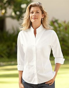 Just found this Elegant Shirts For Women - Wrinkle-Free Pinpoint Stand-Collar Shirt -- Orvis on Orvis.com!