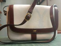Bally Purse White Leather Italy Brown Trim by CraigOandAlice