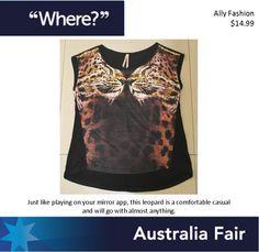 Australia Fair Ally Fashion Leopard Mirror Tank