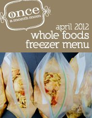 Freezer cooking menu for those wanting unprocessed, organic foods. Grocery Lists, instructions, recipe cards and more.