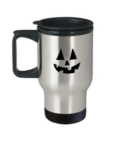 Halloween Pumpkin Scary Halloween Special Design - Travel Mug Travel Coffee Mugs Tea Cups 14 OZ Gift Ideas Romantic Gifts For Husband, Best Gift For Wife, Valentine Gift For Wife, Christmas Gifts For Wife, Birthday Gifts For Girlfriend, Scary Halloween, Halloween Pumpkins, St Patrick's Day Gifts, Mom Gifts
