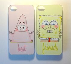 Most popular tags for this image include: patrick, spongebob, best friends, cute and iphone