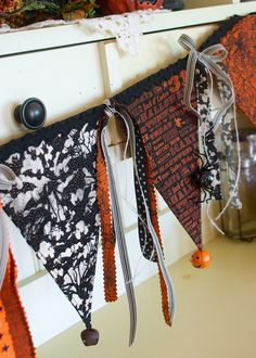 This vintage Halloween bunting is a wonderfully versatile addition to add to your home decor this year. Be sure to bookmark this DIY. You'll thank us later.
