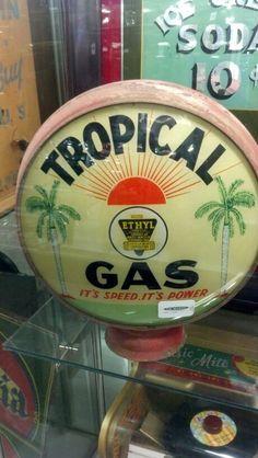RARE Tropical Gas Globe!