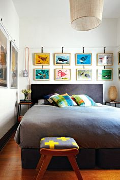eclectic bedroom via Inside Out Dream Bedroom, Home Bedroom, Modern Bedroom, Bedroom Decor, Interior Exterior, Interior Design, Sweet Home, Appartement Design, My Dream Home
