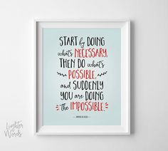 Motivational Quote motivational print by LighterWords on Etsy