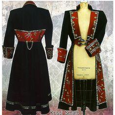 Frock coat, Pirate Coat, Waistcoat, wedding coat, Steampunk coat by Kristi Smart - Kristi Smart Coats. Fancy coats for fancy folks. Steampunk Coat, Steampunk Costume, Steampunk Fashion, Gothic Fashion, Emo Fashion, Steampunk Pirate, Steampunk Wedding, Pirate Jacket, Pirate Garb