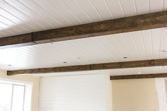 Master Makeover: DIY Wood Beams