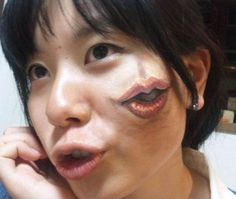 Face japanese Body art