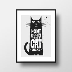 Home is where the cat is... Cross Stitch Pattern by NikkiPattern