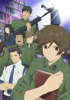 Toshokan Sensou or Library War (2008) is an anime series set in the near future when censorship is rife, and it is up to the Library Task Force to save libraries!