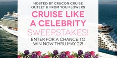 I just entered to win the From You Flowers' Cruise Like a Celebrity Sweepstakes, with a grand prize of a 7-night cruise for 2, plus a $300 From You Flowers gift card! Join me! #fyfsweeps