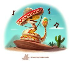 Daily Paint #1239. Rattlesnake by Cryptid-Creations