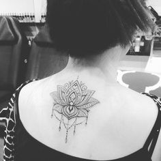 Mandala tattoo, back , black and grey tattoo. Artist SU at https://www.facebook.com/pages/Exotic-Tattoos-and-Piercings/418666600080?ref=hl Granddaughter of Johnny Two Thumbs. https://www.pinterest.com/sutattoo/johnny-two-thumbs-singapore/ Johnny Two Thumbs Singapore.Kindly contact Su for appointments at exotic@exotictattoopiercing.com