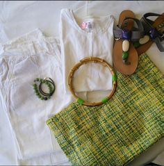 Pure White...almost... #fashion #outfit #style #linen #blogger #pants #Summer #white #shirt #handbag #bracelet #fashionista