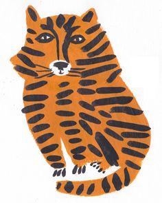 Léa Maupetit / Tiger Tiger Illustration, Pattern Illustration, Collages, Room Boys, Kids Rooms, Tiger Print, Tiger Rug, Croquis, Tigers