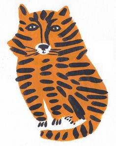 Léa Maupetit / Tiger - lovely artwork for a vintage / retro inspired kids room / boys room / baby nursery