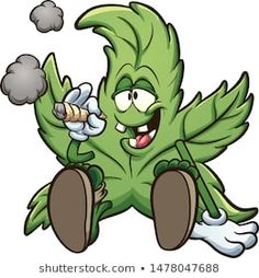 Cartoon cannabis plant character smoking a marihuana joint clip art. Vector illustration with simple gradients. All in a single layer. Graffiti Doodles, Graffiti Cartoons, Graffiti Characters, Graffiti Drawing, Cool Art Drawings, Graffiti Art, Cartoon Drawings, Marijuana Art, Cannabis Plant