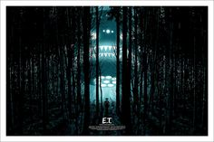 Gorgeous, gorgeous poster for E.T.    Mondo: The Archive | Dan McCarthy - E.T.: The Extra-Terrestrial, 2012