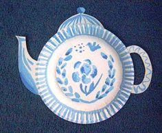 Delfts blauwe theepot knutselen met kleuters