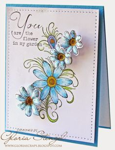 Heartfelt Creations Feathered Daisy stamps