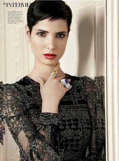"""Lifting the Veil"" Hanaa Ben Abdesslem by michelle ferrara for Harper's Bazaar Arabia October 2012"