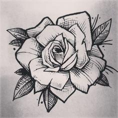 rose tattoo linework - Google Search
