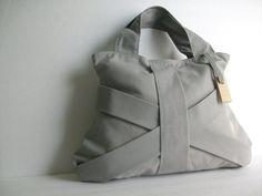GREY THREE STRAP  / grey purse / grey tote bag / grey by Hashibags, $46.00