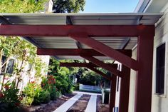 Wood porch with cover | Metal Patio Covers | Metalink - Austin, TX