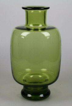 Per Lütken voor Holmegaard - groene vaas