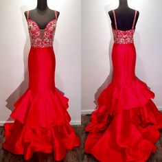 Evening Dress,Long Evening Dresses,Formal Dress,Red Formal Gown,Women Dress,Red Prom Gowns,Red prom gown