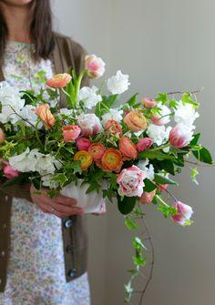 spring flower centerpiece