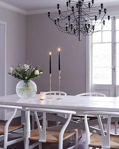 I'm loving this purplish grey wall color Room Interior, House Styles, Dinning Room Decor, Home Decor, House Interior, Dining Room Decor, Interior Design, Interior Inspo, Living Room Designs