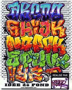 graffiti alphabet letter a z Graffiti alphabet letter A Z amazing design