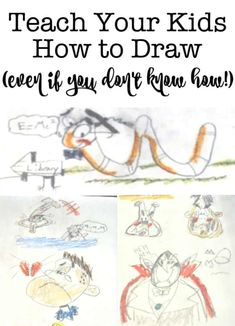 My kids said that they wanted to learn how to draw this summer- but drawing is not in my personal skill set! So I found 3 ways to teach kids how to draw! Summer Activities For Toddlers, Outdoor Summer Activities, Infant Activities, Family Activities, Outdoor Fun, Organized Mom, Parenting Teens, Kids Events, Summer Kids