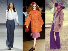 Goodness I am so into the 70's fashion coming back in. High-waist wide-legs. Floppy Hats. Wedges. What's not to love?!