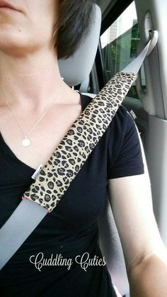 Seatbelt Strap Cover Reversible Cheetah and Watermelon Paisley Minky Bag Strap, Cooler Strap by cuddlingcuties on Etsy