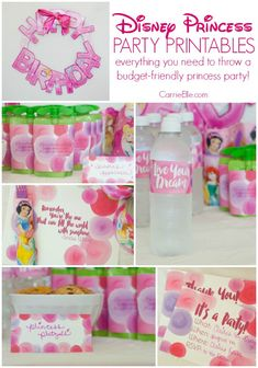 Disney Princess Birthday Party: Free Printables and Simple Craft Ideas! Disney Princess Birthday Party: Free Disney Princess printables and simple craft ideas to help you throw the best (and easiest) princess party on a budget EVER! Disney Princess Birthday Party, Disney Princess Party, Princess Party Favors, Cinderella Party, 4th Birthday Parties, Birthday Ideas, 5th Birthday, Birthday Crowns, Birthday Decorations