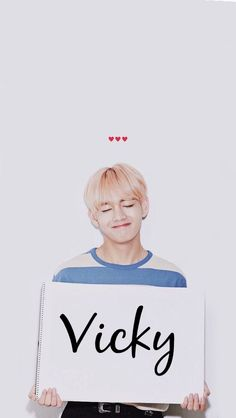 For the girls who are named vicky or victoria 😂❤️ #vicky #bts bts v kim teahyung #kimteahyung ✨👑🎶