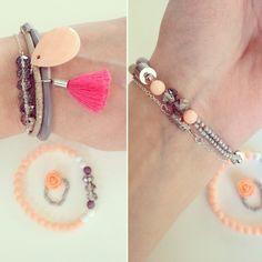Peach armbandje label bysimoon
