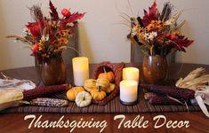 DIY Thanksgiving Table Decor via momendeavors.com #lowescreator