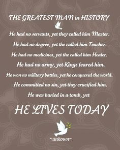 Sister Sally's: Easter Printable-The Greatest Man