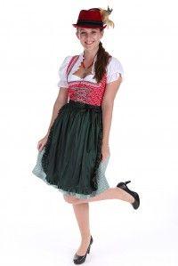 Auch dieses #Outfit ist ein Hingucker beim #Oktoberfest und jedem anderen #Volksfest - ein freches #Minidirndl mit #Hut und einer wunderschönen #Trachtenkette - erhältlich unter www.trachten-riehl.de