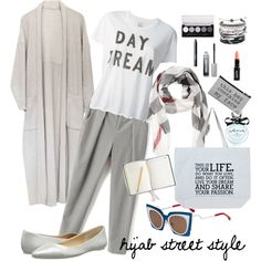 hijab street style.... by adikrisnadee on Polyvore featuring polyvore fashion style Zoe Karssen Joe's Jeans Holstee Domo Beads Burberry NARS Cosmetics Bare Escentuals Kate Spade Urban Outfitters