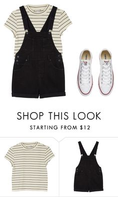 """:p"" by tay1a ❤ liked on Polyvore featuring Monki and Converse"
