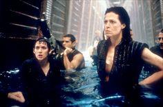 Annalee (Winona Ryder), Distephano (Raymond Cruz), and Ripley (Sigourney Weaver), Alien: Resurrection, 1997 90s Movies, Good Movies, Movie Tv, Raymond Cruz, Film Science Fiction, Alien Resurrection, Saga, Sigourney Weaver, Aliens Movie