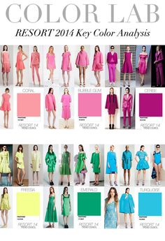 TREND COUNCIL- RESORT 2014 KEY COLOUR ANALYSIS