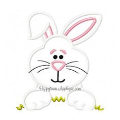 Peeking Bunny Applique Design