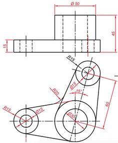 Teknik Resim Görünüş Çıkarma Örnekleri. Örnek Çizimler   Makine Eğitimi Bathroom Towel Decor, Technical Drawing, Autocad, Diagram, Drawings, Arabic Language, 2d, Engineering, Drawing Techniques