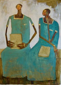 women singing or in church together, Olivia Pendergast  Friend of mine. She did a painting of me and Tootie that is amazing too.